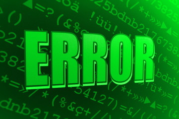 Abstract green error message