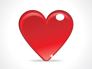 abstract red glossy heart icon