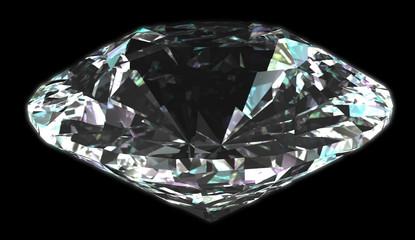 Isolated diamond with black background