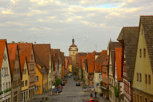 Clock Tower in Rothenburg, Germany