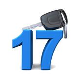 Fototapety Führerschein mit 17 - Blau