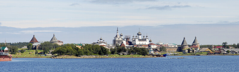 Panorama of Solovki monastery