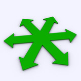 3D_6ARROWs_Green