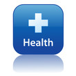 HEALTH Web Button (Emergency Hospital Pharmacy First Aid Vector)