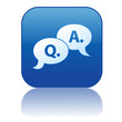 """Q & A"" Web Button (questions answers faqs sos help assistance)"