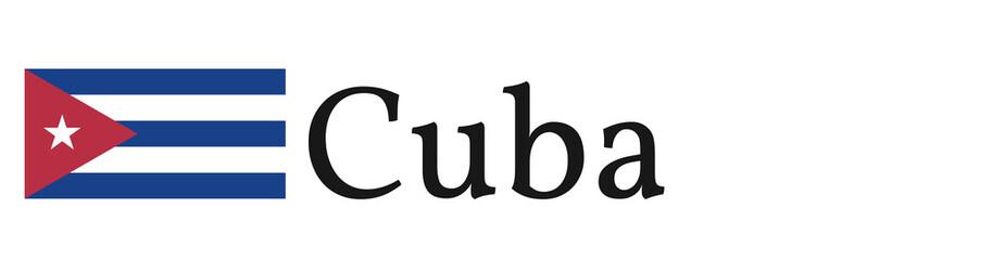 "Banner / Flag ""Cuba"""