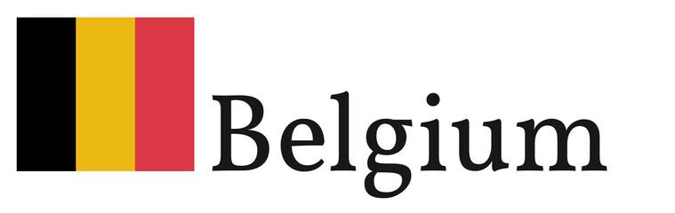 "Banner / Flag ""Belgium"""