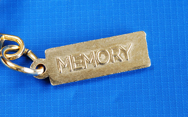 Keychain with the word Memory concepts of lost memory