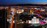 Las Vegas strip aerial view - 24777378