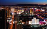 Fototapety Las Vegas strip aerial view