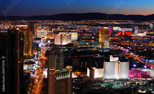 Papiers peints Las Vegas Las Vegas strip aerial view
