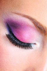 fashion makeup of a female eye