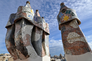 Casa Batllo, Detail of the Roof