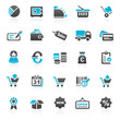 blue finance business icons - set 4