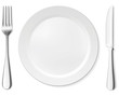 Dinner plate, knife and fork - 24782117