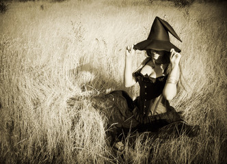 Witch in the field