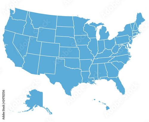Mapa wektorowa Stanów Zjednoczonych