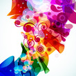 roleta: Eps Abstract colorful floral background. Vector.