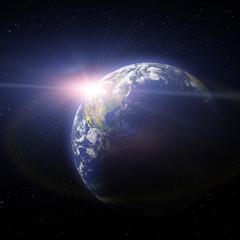 Zachód Słońca Ziemia
