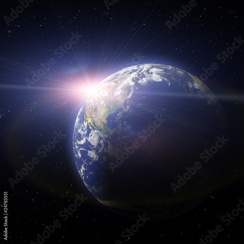 Sunset Of Earth Planet