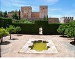 Garden with pool, Alhambra palace