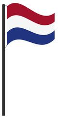 Flaggenmast Niederlande