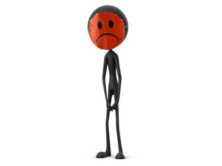 Mr. Emotion V26.3a Sad Smiley Mask black