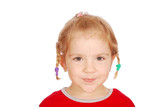 little girl with pigtail poster