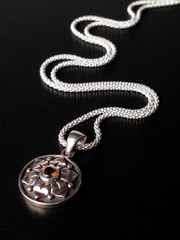 Sterling silver chain with pendant