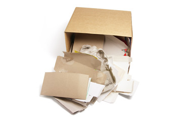 Waste Papers in Cardboard Box