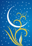 star and crescent of Ramadan poster
