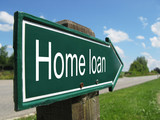 HOME LOAN road sign poster