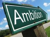 AMBITION road sign poster