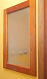 bathroom mirror fog poster