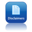 DISCLAIMERS Web Button (law legal policy terms and conditions)