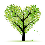Fototapety Valentine tree, love, leaf from hearts