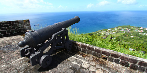 Cannon at Brimstone Hill Fortress - Saint Kitts