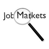 Magnifying glass on job markets