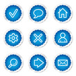 Basic web icons, blue stickers series
