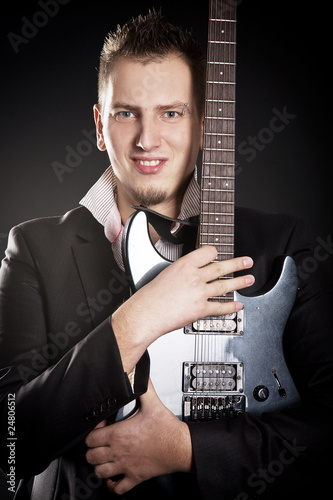 Portrait of young guitarist