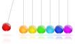 Newton's Cradle colors - 24809380