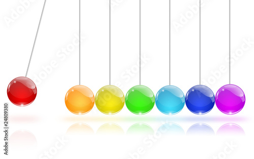 Newton's Cradle colors