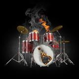 Fototapety Drums in fire
