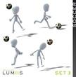 Lumiis 3D-Figuren weiss Fussball Set 3