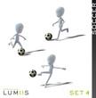 Lumiis 3D-Figuren weiss Fussball Set 4
