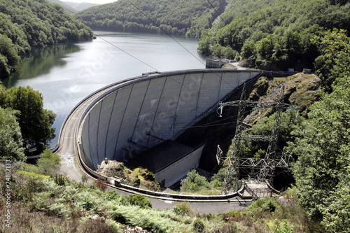 canvas print picture Barrage Hydroélectrique EDF d'Enchanet
