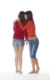 deux jeunes filles complices poster