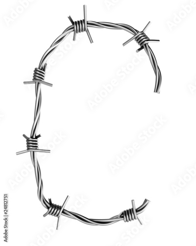 Barbed wire alphabet, C