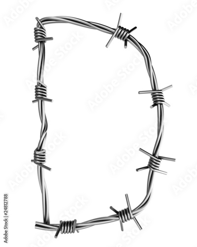 Barbed wire alphabet, D