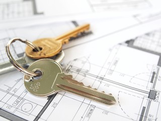 Architecture house plans with keys